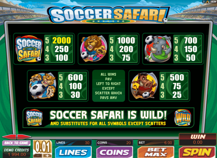 Playtable Soccer Safari